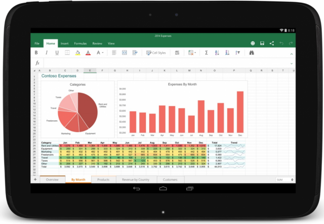 microsoft office android tablet app