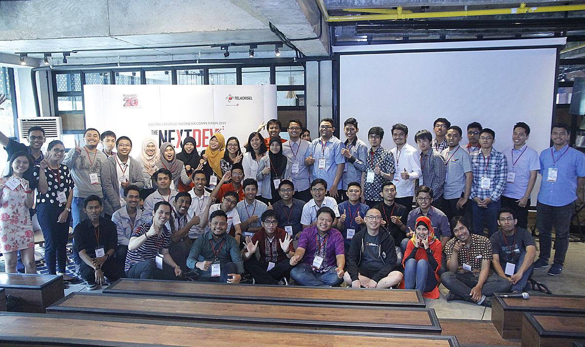 Dua puluh finalis yang berhasil maju ke tahap BootCamp ajang The NextDev / DailySocial