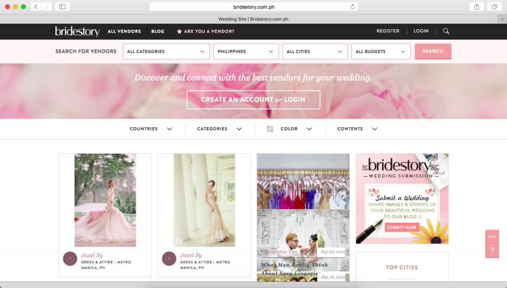 Situs lokal Bridestory untuk pasar Filipina / Shutterstock