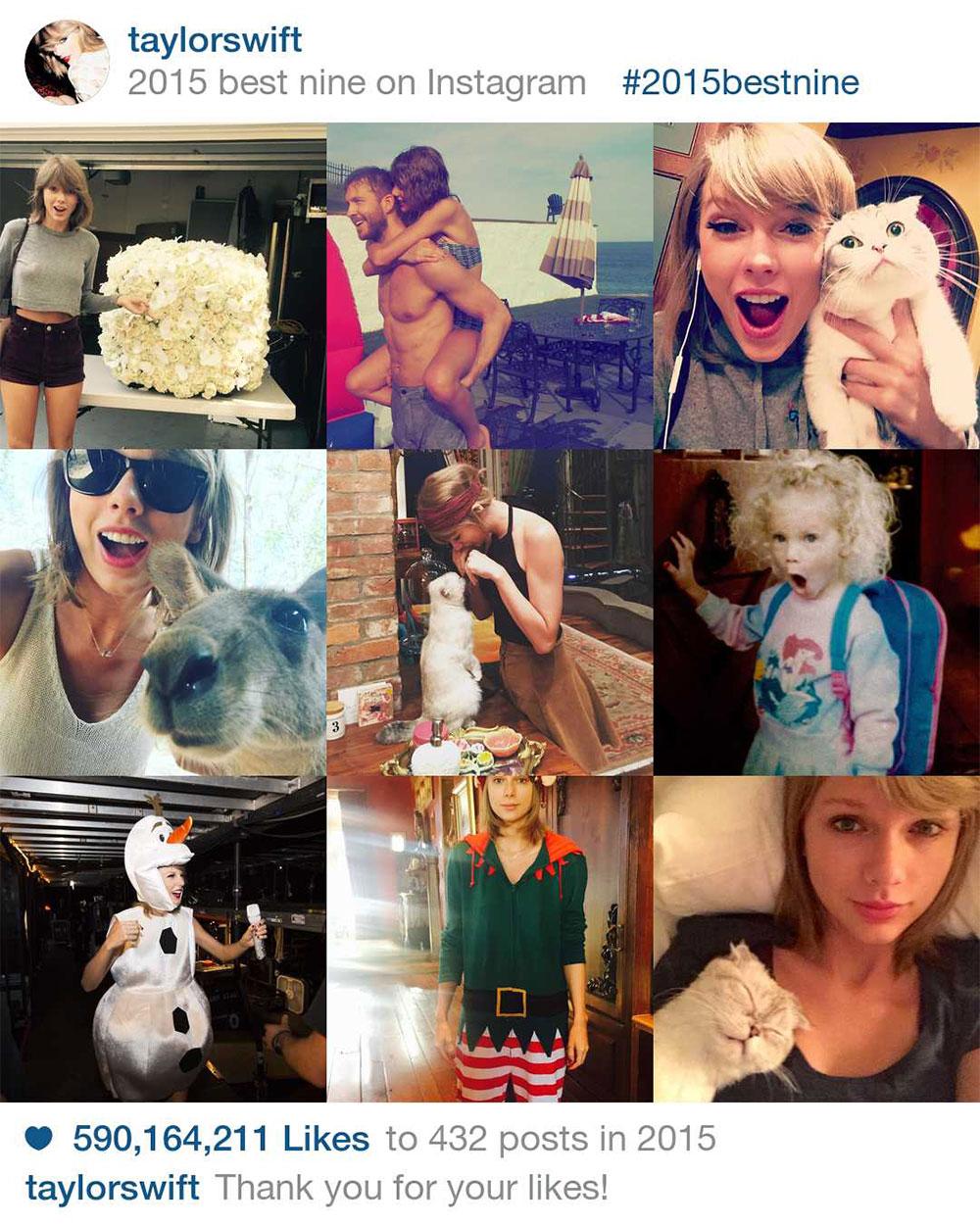 Taylor Swift's Best Nine on Instagram