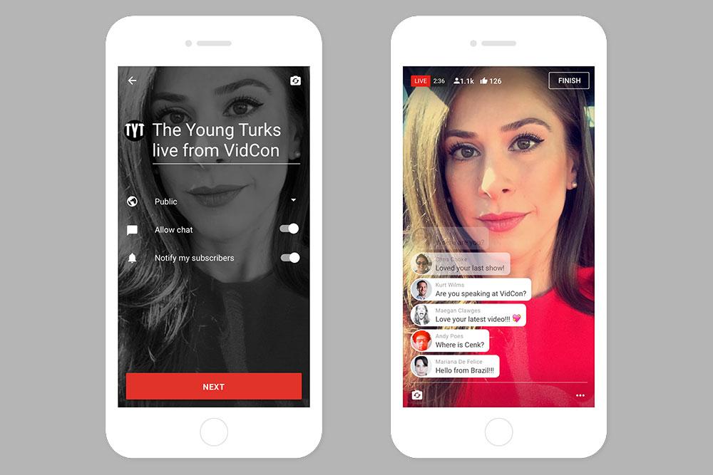 Mobile live streaming kini bisa dinikmati YouTuber dengan jumlah subscriber minimum 1.000 orang / YouTube