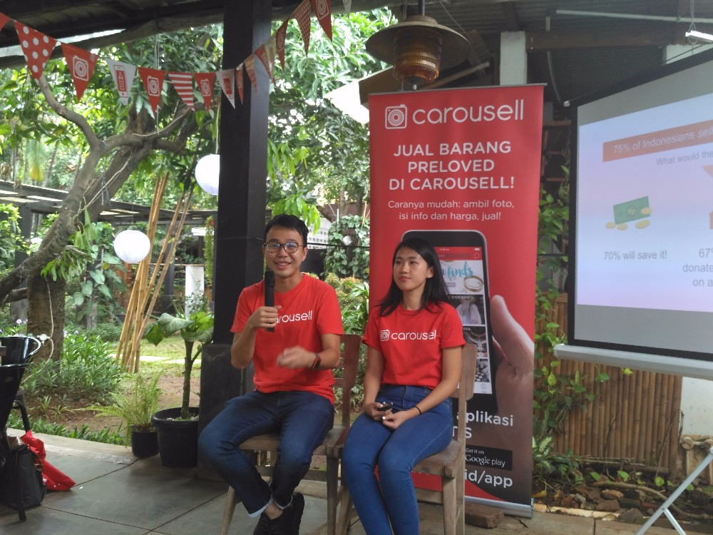 Carousell Indonesia's Community Manager Olivia Lautner and Carousell's Co-Founder Marcus Tan / DailySocial