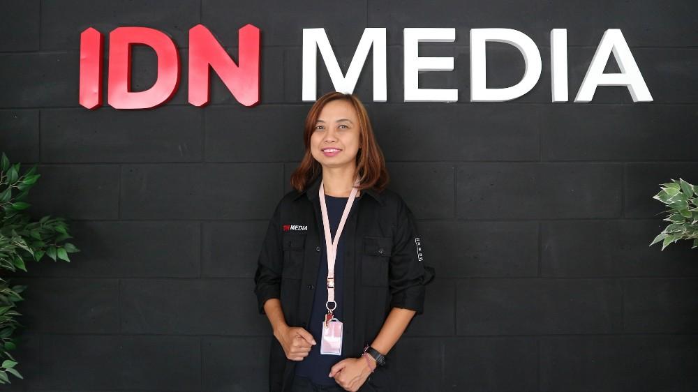 Sandra Ratnasari,  pemimpin redaksi Popmama / Popmama