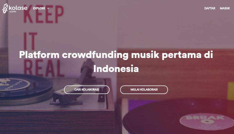 Situs Kolase sajikan layanan crowdfunding untuk bantu musisi di Indonesia