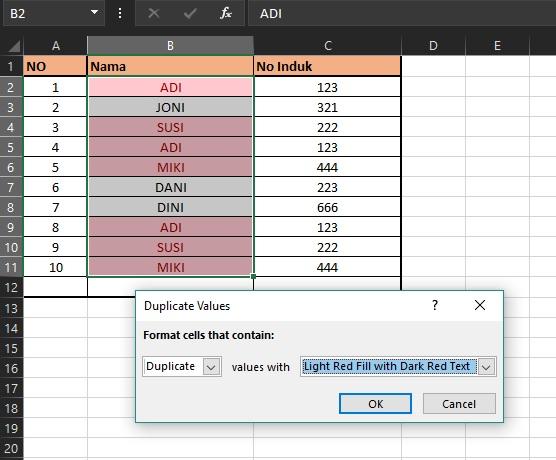 Cara Mencari dan Menemukan Data Ganda di Dokumen Microsoft Excel 2016_4