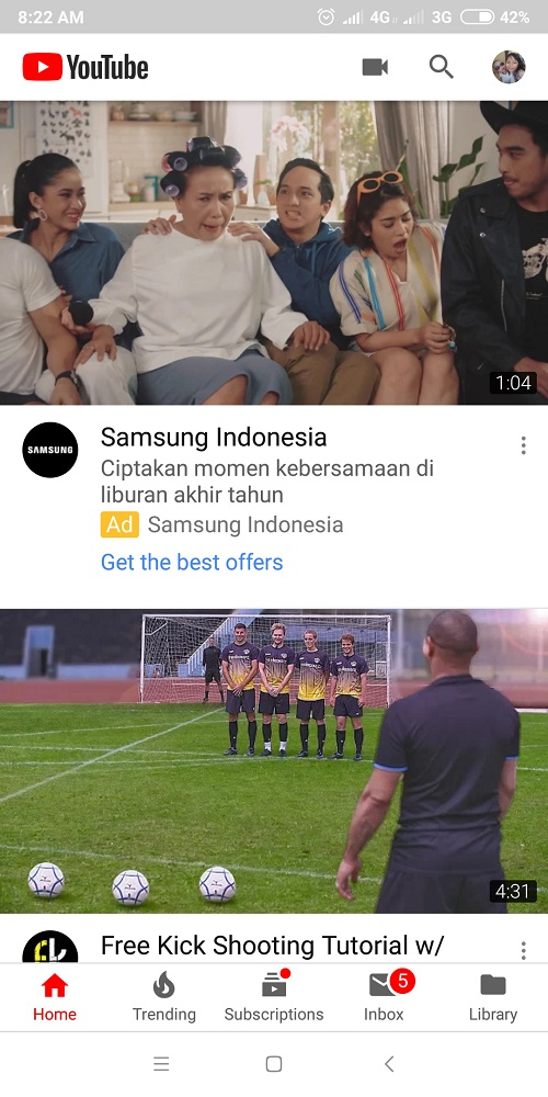 Cara Live Streaming di YouTube Android_1