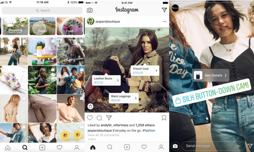 Fitur Commerce di dalam Instagram / Instagram