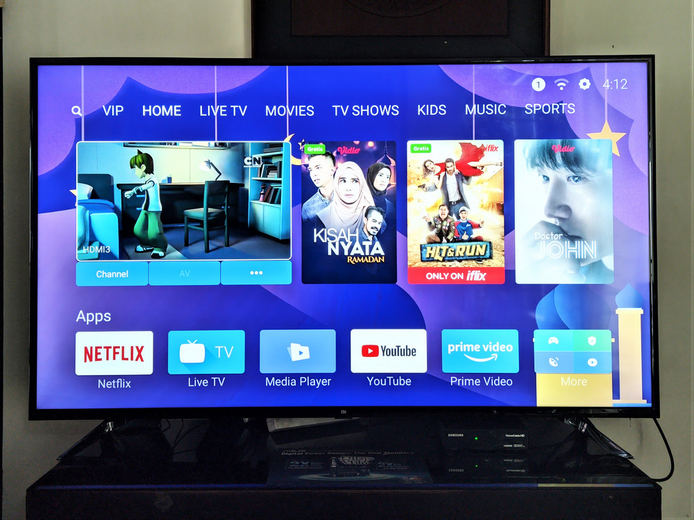 Mi TV 4 55 inch - Patchwall